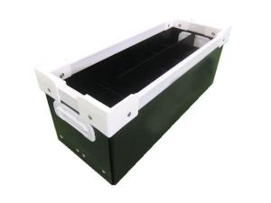 精密機械部品向けプラダン通い箱